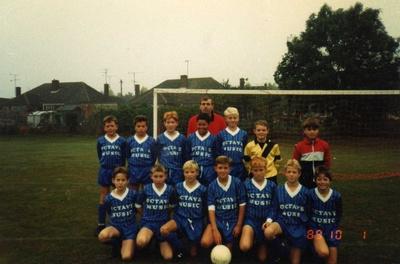 Dunstable Jr Blues, 1989. Me: Blonde hair, Steve: Bottom right
