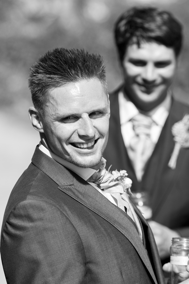 Groom black and white