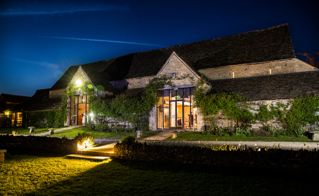Great Tythe Barn, Tetbury at night