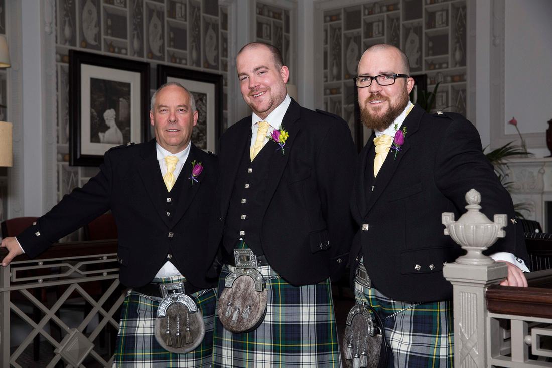 Groomsmen at Macdonald Bath Spa Hotel Leon Day Images