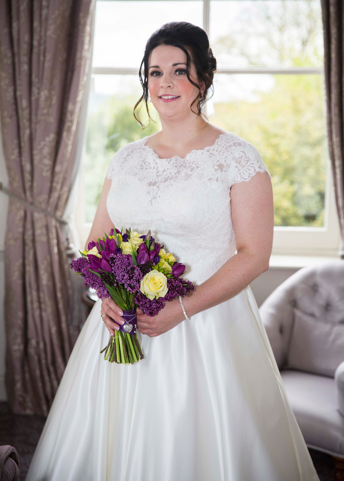 Bride before wedding Macdonald Bath Spa Hotel Leon Day Images