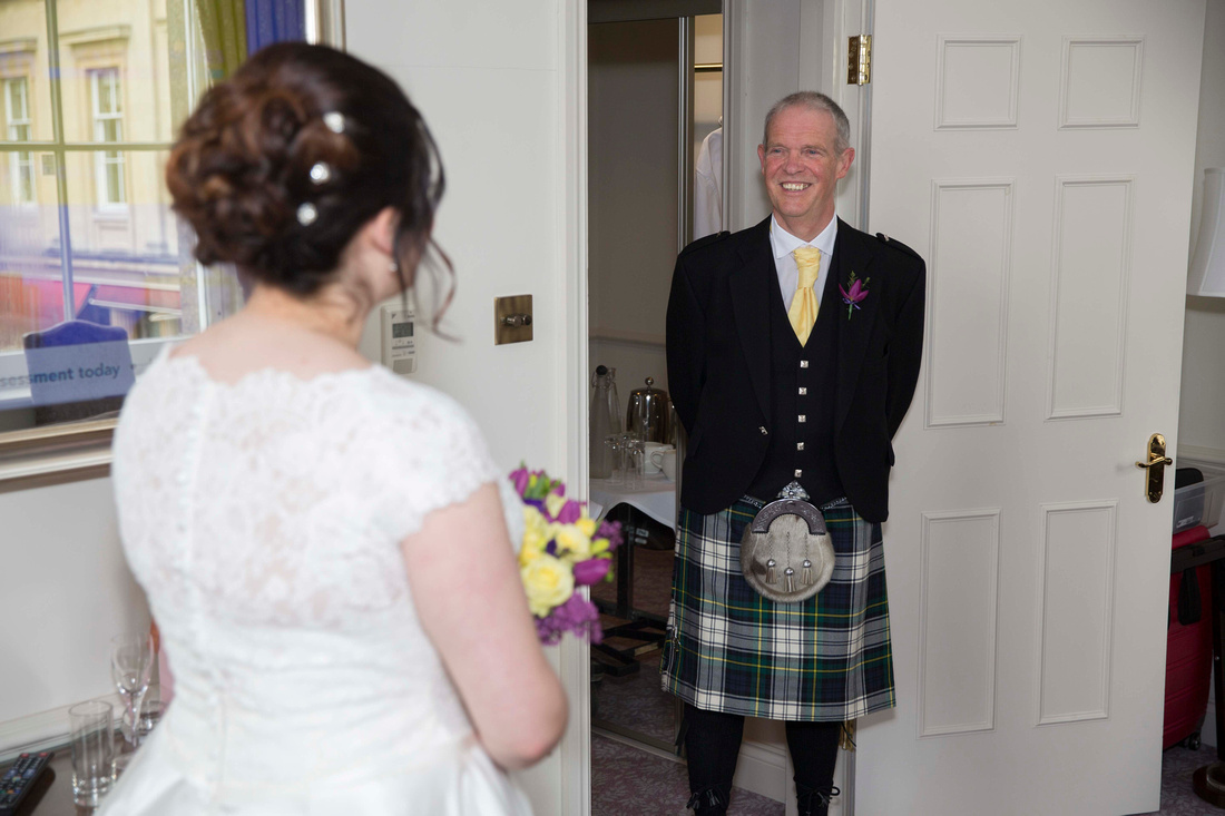 Father's first look at bride