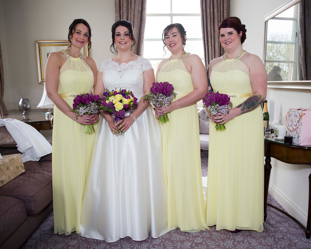 Bride and bridesmaids Macdonald Bath Spa Hotel Leon Day Images