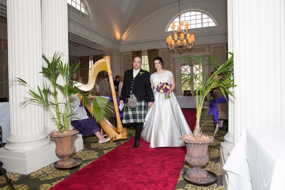 Wedding ceremony in Vellore room at Macdonald Bath Spa Hotel Leon Day Images