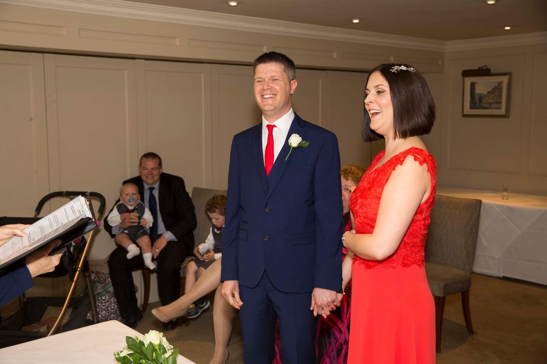 wedding ceremony at bath priory hotel