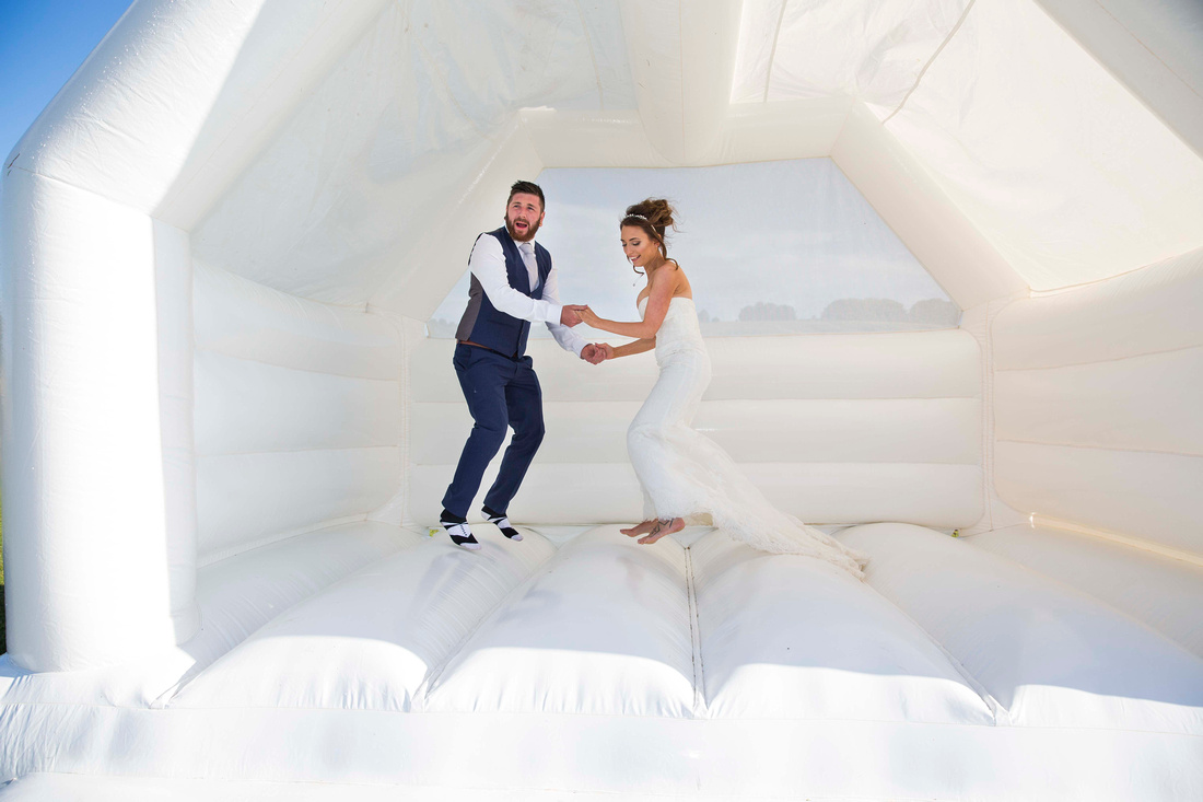bride groom bouncy castle