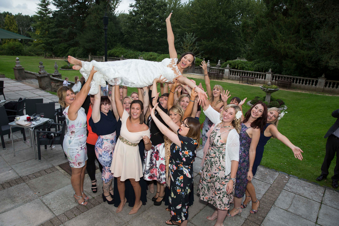 botleigh grange hotel bride and groom group shots