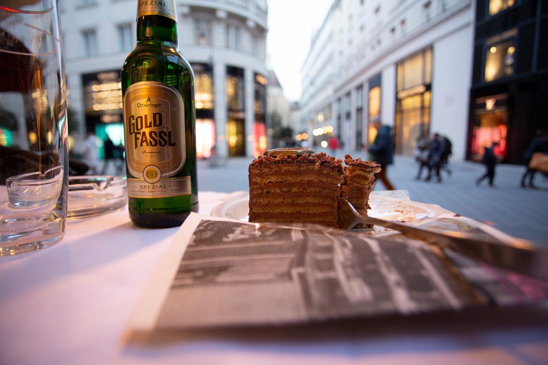 Sacher Torte slice of cake in Vienna
