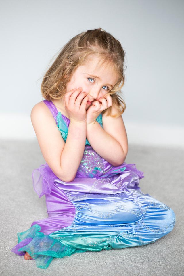 Portrait of girl in mermaid costume