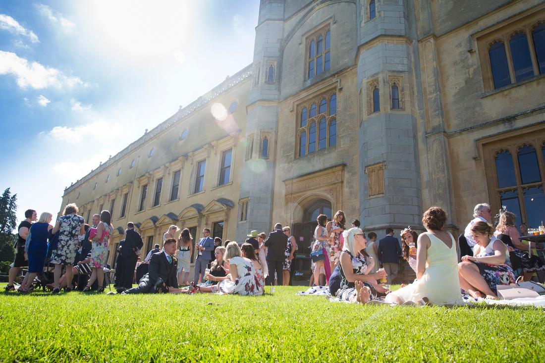 Guests enjoy the sunshine