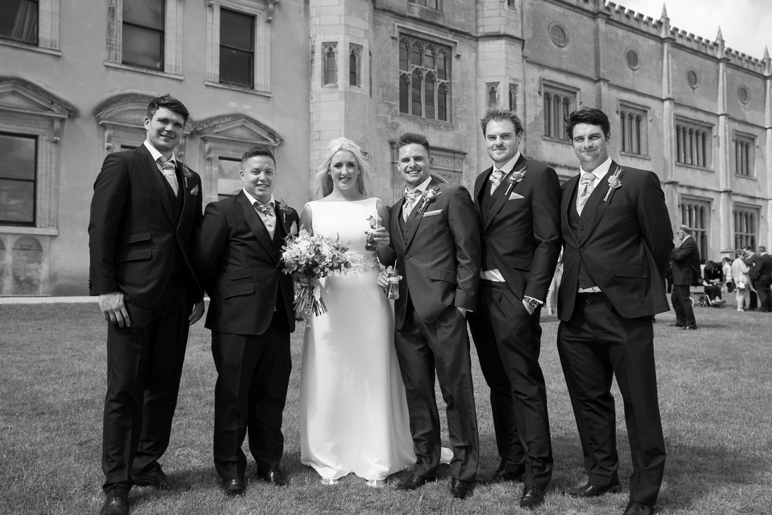 Bride and Groom with Groomsmen