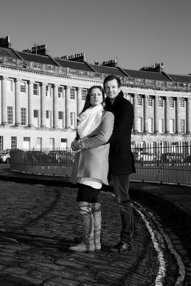 Engagement Shoot at Royal Crescent Bath