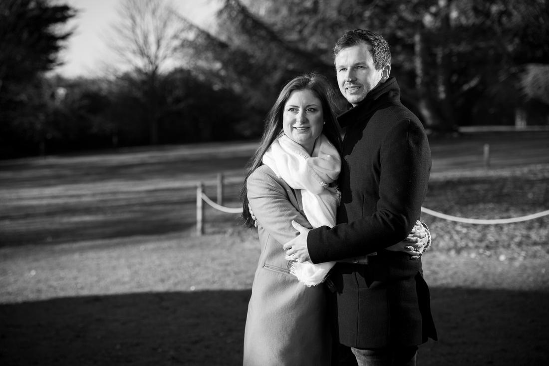 Silhouette couple Engagement shoot Royal Crescent Bath