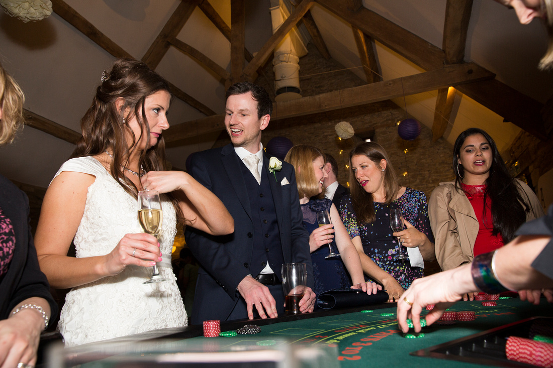 casino wedding photos with guests