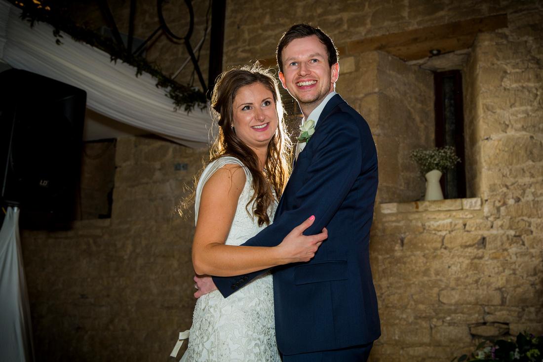 first dance wedding married couple on dancefloor