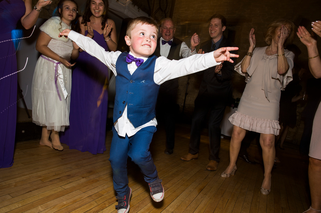 page boy dancing evening guests