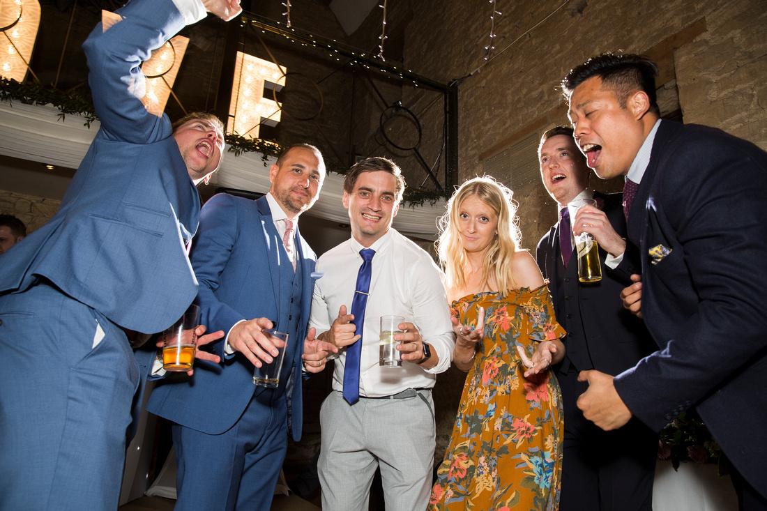 guests singing dancing having fun