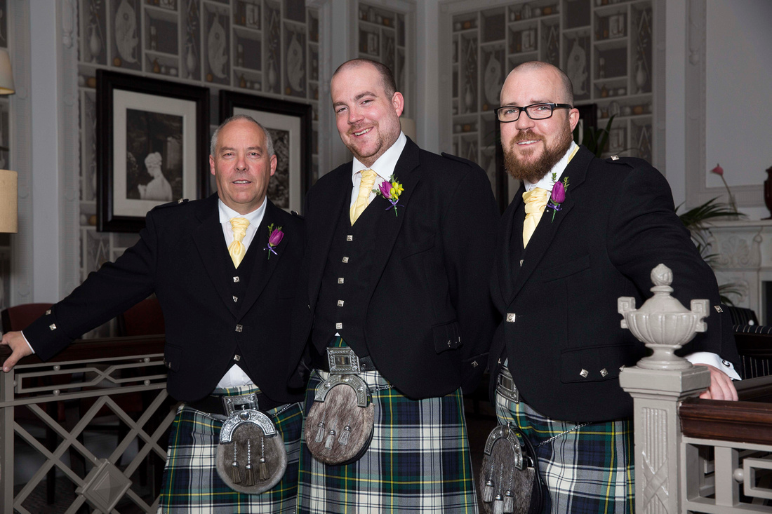 Groomsmen at Macdonald Bath Spa Hotel Leon Day Images