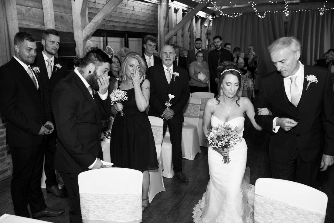 emotional moment wedding ceremony
