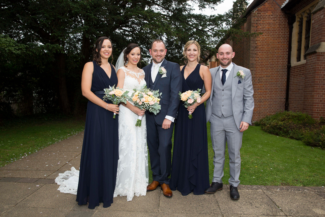 twins and triplets bride and groom st bonniface church