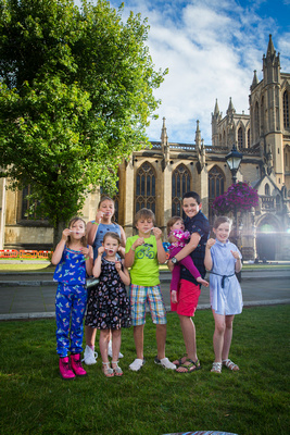 Kids by Bristol Cathedral