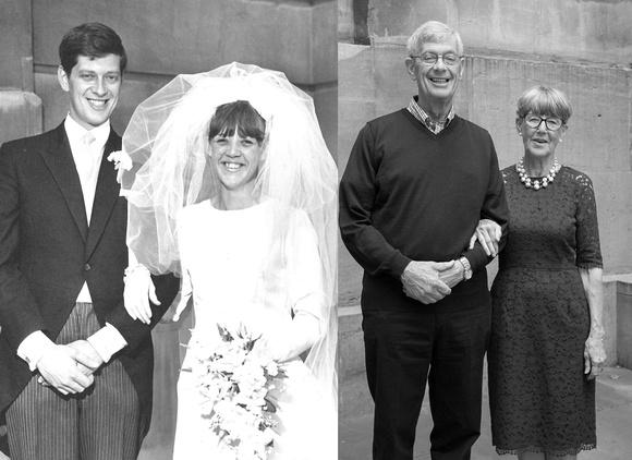 Left: John & Pat 1966, Right: John & Pat 2016