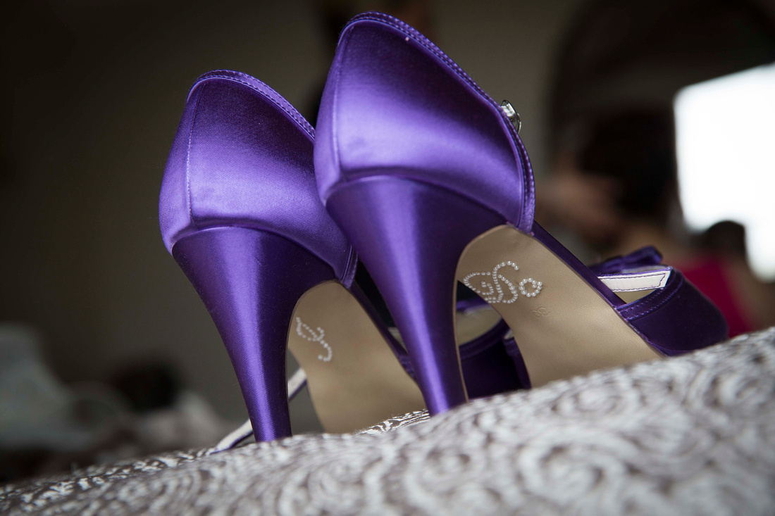 Wedding shoes I Do on soles