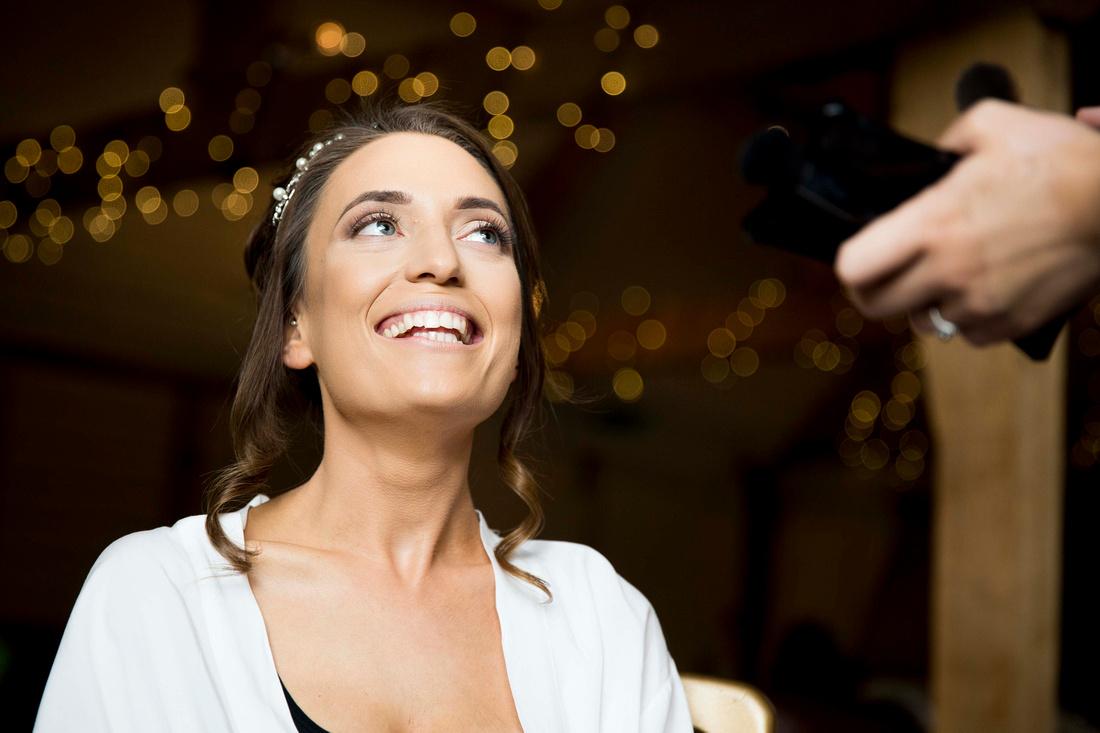Wellington Barn wedding makep up preparation