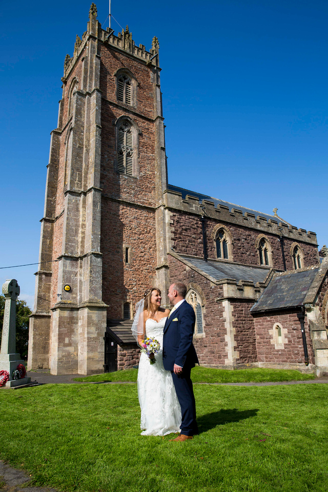 wedding at easton in gordano st george's church